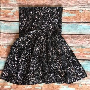 American Apparel Metallic Convertible Dress